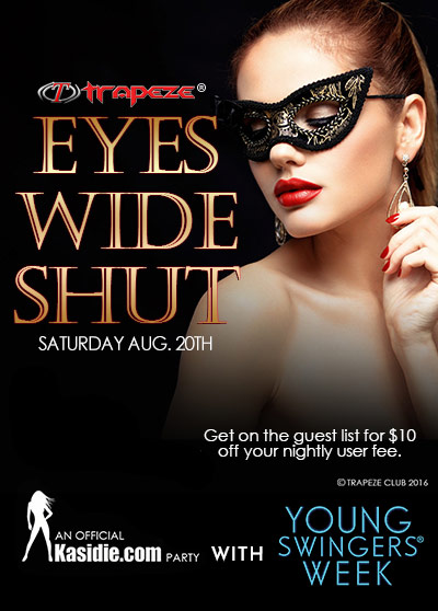 Eyes Wide Shut Party Trapeze Club by Kasidie and Young Swingers Week
