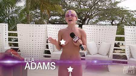 Eila Adams with Naked News Asks Young Swingers What makes the perfect penis?